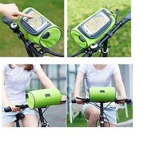 Sacoche et Sac vélo 2 en 1 avec emplacement smartphone protégé ( vert )