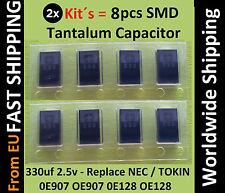(2 Kit) 8x SMD Tantalum Capacitor 330uf 2.5v replace NEC/TOKIN 0E907 OE907 0E128