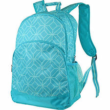 2 Pc Set Turquoise Geo Gem Print All For Color Canvas Backpack & Lunch Bag