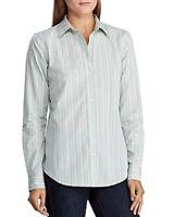 Ralph Lauren Women's Striped Button Down Dress Shirt, Green, Size M, $90, NwT
