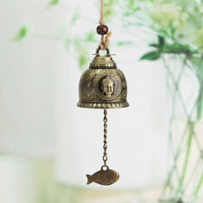 Zinc Alloy Bronze Buddha Statue Feng Shui Bell Hang Wind Chime Home Decor Gift