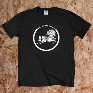 George Harrison Offiziell T-Shirt Dunkel Pferd Aufzeichnungen Beatles Retro B1