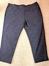 TAKING SHAPE SZ 24 BLACK SELF PATTERN ANIMAL PRINT PULL ON STRETCH TAPERED PANTS