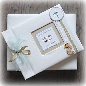 Luxury Personalised CHRISTENING Photo Album/ Handmade Boxed - Stunning gift!