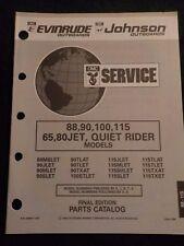 1993 Evinrude Johnson Parts Catalog Manual 88 90 100 115 65 80 JET Quiet Rider