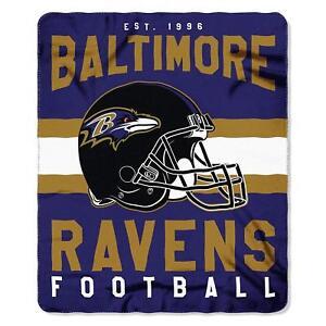"Baltimore Ravens 50"" x 60"" Singular Fleece Throw Blanket by Northwest"