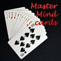 Magician's Master Mind Card Prediction Mentalism On Jumbo Size Cards Magic Trick