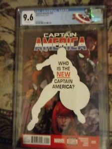CAPTAIN AMERICA #25 CGC 9.6 (2014) SAM WILSON BECOMES CAPTAIN AMERICA