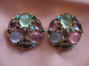 Pair Jomaz Vintage Clip-on Earrings