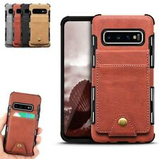 For Samsung Galaxy S10 S10e S9 Plus Note 9 Case Leather Card Holder Wallet Cover
