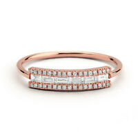 Elegant Rose Gold Filled Rings for Women Jewelry White Sapphire Ring Size 6-10