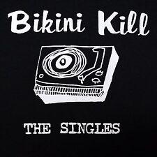 Bikini Kill band Singles ***MEDIUM*** screen printed t-shirt Black retro