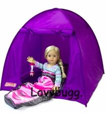 Purple Tent for 14- 18 inch American Girl Doll Camping Accessory  LOVV LOVVBUGG!