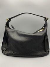 FURLA Black Leather Hobo Bag Medium Size Excellent Condition