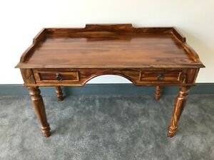 Solid Sheesham Wood Desk: Home Office Study or Bedroom Dressing Table Unusual
