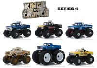 Greenlight 1/64 Kings Of Crunch Series 4 Set of 6 BigFoot Monster Trucks 49040