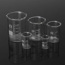 5/15/25/50/100ml Becherglas Labor Messbecher Glas Borosilicatglas Becher Set