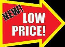 "LOW PRICE Arrow 4.5"" x 3.5""  Retail Grocery Store Shelf Talker Signs Bugs 50pk,"