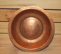 Vintage hand made copper bowl