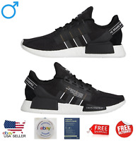 Adidas Originals NMD R1 V2 Black White Japanese Text Men's Sneakers Shoes