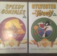 SPEEDY GONZALES and SYLVESTER AND TWEETY VHS VIDEO - Program Content 1990