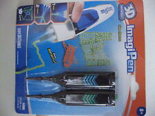 3D Magic ImagiPen Gel Refill Pack of 2 from Tech4Kids Blue and Green