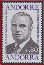 1975 ANDORRE N°249** Georges POMPIDOU,  French Andorra MNH