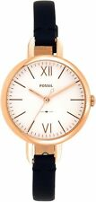 Fossil Women's Mini 30mm Annette Three-Hand Navy Leather Watch ES4359 NEW!