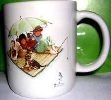 A Norman Rockwell Coffee Mug Fisherman's Paradise 1987 Museum Coll. (No Reserve)