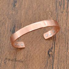 Rosegold Kupfer Kupferspange Magnetarmband Armreif Damen Herren Schmuck