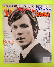 ROLLING STONE USA MAGAZINE 758/1997 Beck Notorius B.I.G Ric Ocasek  No cd