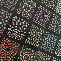 50 Sheets 3D Nail Art Transfer Stickers Flower Decals Manicure Tips  Decoration,