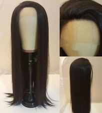 """24"""" Darkest Brown GlueLess Lace Front Wig Synthetic Hair Cosplay Straight"""