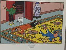 Tintin Extrait de Planche Le Lotus Bleu #6 - Hergé Moulinsart / 24 x 20 cm