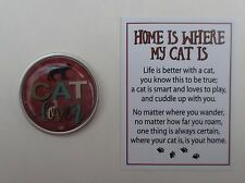 zzR. Cat lover Home Is Where My Cat Is pocket token charm ganz