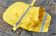 Dog Rain Coat With Fluorescent Strip Jacket Outfit Pet Puppy 20cm/ 35cm New l