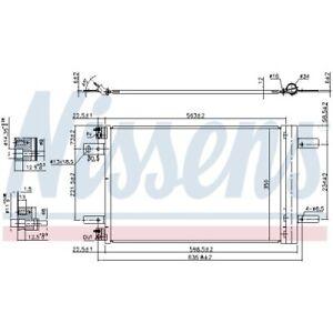 1 Kondensator, Klimaanlage NISSENS 940458 passend für CITROËN OPEL PEUGEOT DS