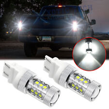 2pcs 3157 3156 LED Reverse Backup Light Bulbs Extremely Bright 6000K White 80W