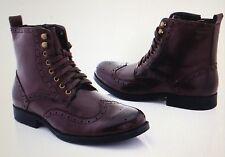 NEW Adolfo Men's Oxford Dress Boots, S/1292 style, dark Brown Size 8