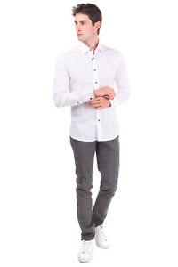 RRP €105 TAKESHY KUROSAWA Shirt Size XL Long Sleeve Regular Collar Made in Italy
