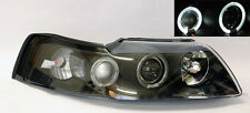 Ford Mustang 99-04 Black Projector LED Halo Angel Eye Headlights Pair RH LH