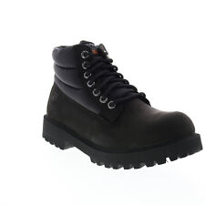 Skechers Sergeants Verno 65838 Mens Black Leather Lace Up Boots