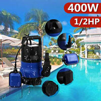 1/2 2100GPH Submersible Sump Pump with 25ft Cord Water Sub Pump Empty Pool Pond