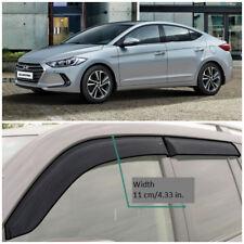 Wide Window Visors Side Guard Vent Deflectors For Hyundai Elantra Sd 2016-2018