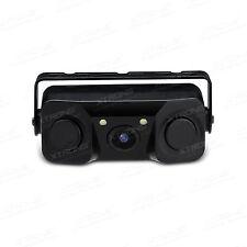 Car LED Camera With Sensors 3 in 1 Parking Reverse Backup Radar Rear View Camer