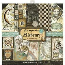 "Stamperia 12""x12"" Scrapbook Paper Pad ""Alchemy"" Steampunk images"
