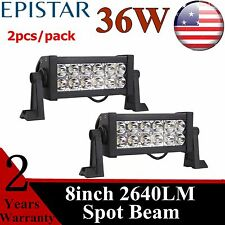"2PCS 36W 8"" in Led Light Bar Fog Driving Spot Lamp For Ford Offroad Truck Jeep 7"