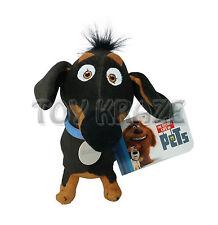 "THE SECRET LIFE OF PETS PLUSH! SMALL BUDDY BLACK DACHSHUND DOG SOFT DOLL 12"" NWT"