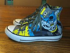 Converse Batman Chuck Taylor Hi Tops Men 5 Womens 7 Blue, Yellow and Black
