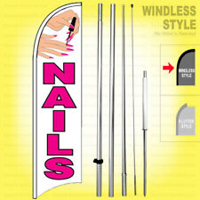 Nails Windless Swooper Flag 15 Kit Salon Manicure Sign Wb H